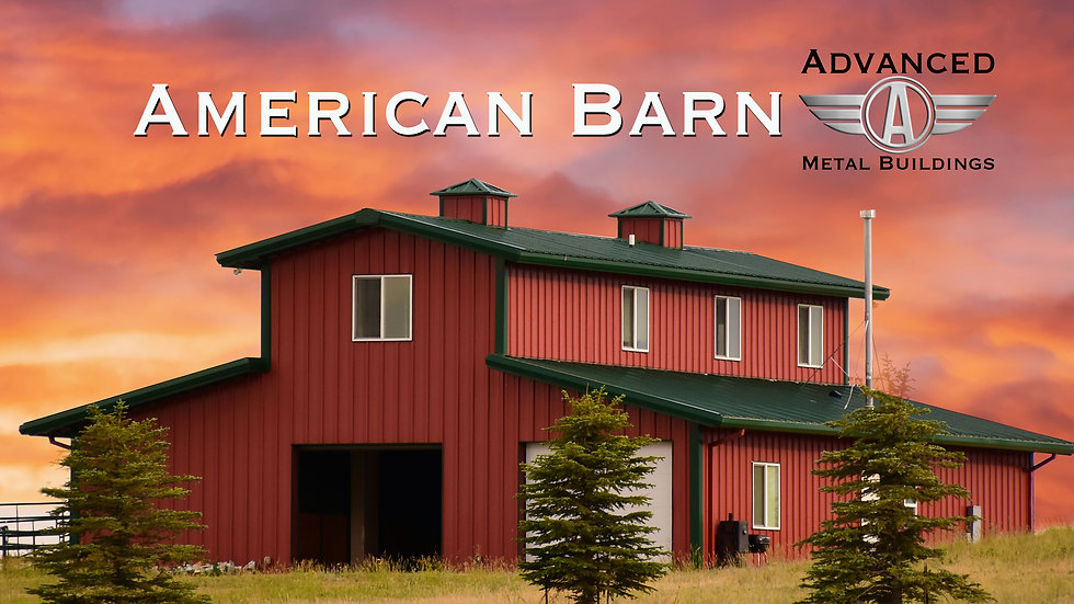 The American Barn - Two Floors 40' x 60' x 20' 3,600 Square Feet