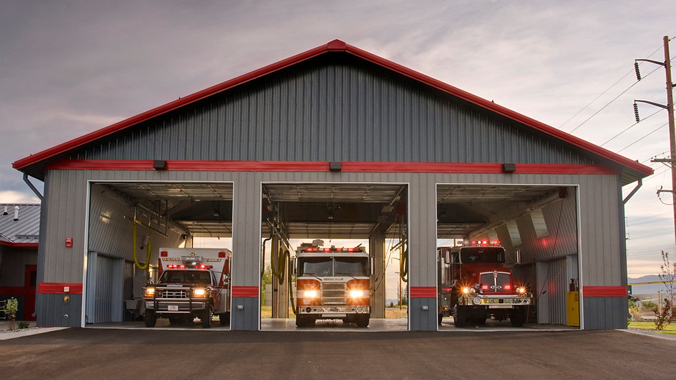 Fire Station - 3 Engine Building 50' x 40' x 16' 5:12 Roof Pitch