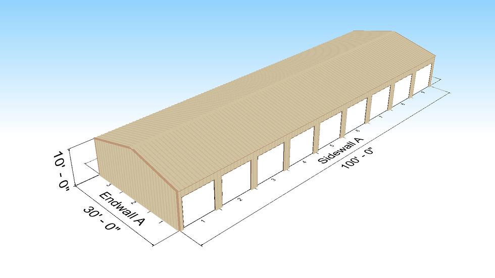30' x 100' x 10' Self-Storage Building