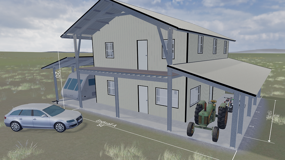 Metal Building Home 30 x 40 x 20