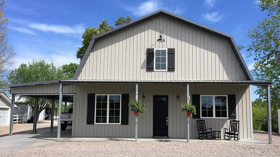 The Texas Barndominium - Steel Home 2,400 Sqft