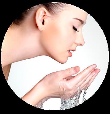 mujer agua alcalina kangen