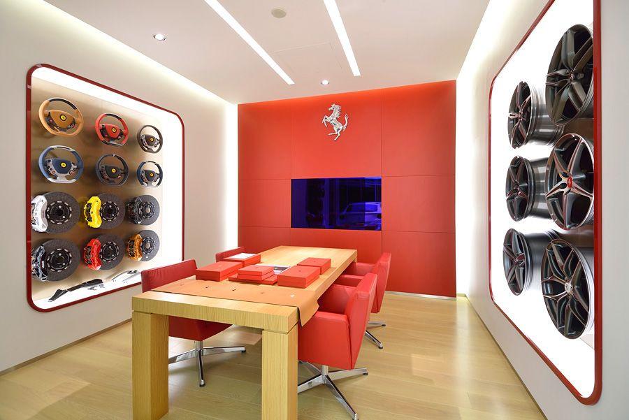 Ferrari Showroom Acrylic Displays