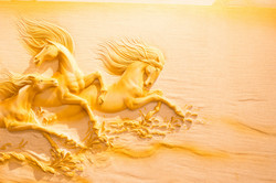 3d horse carving