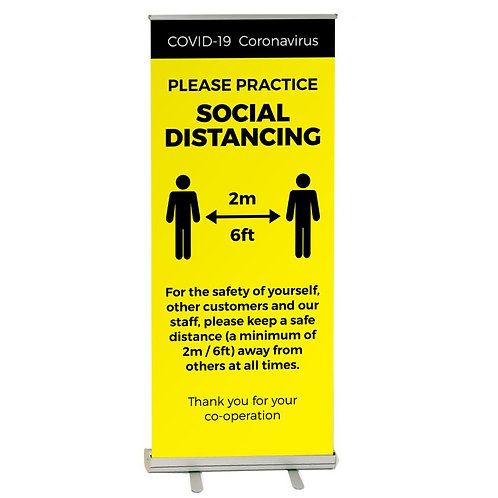 Pop up covid banner