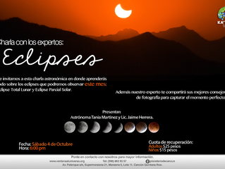 """Ka'Yok' ofrece una charla sobre """"Eclipses"""" y dos observaciones nocturnas el fin de semana."""