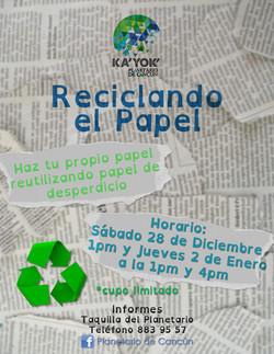 RECICLANDO EL PAPEL