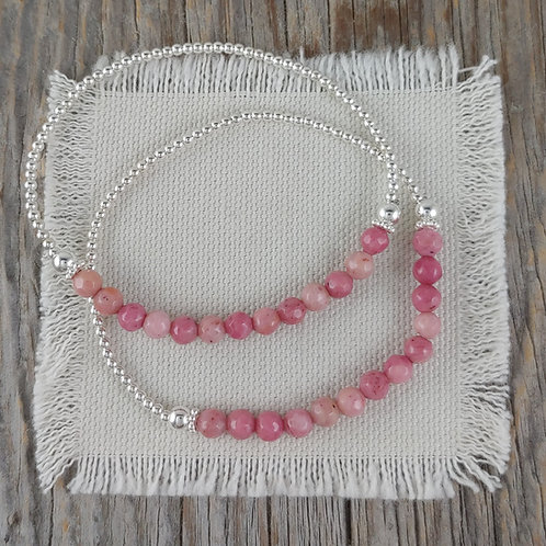 'rhodonite' station stretchy bracelet