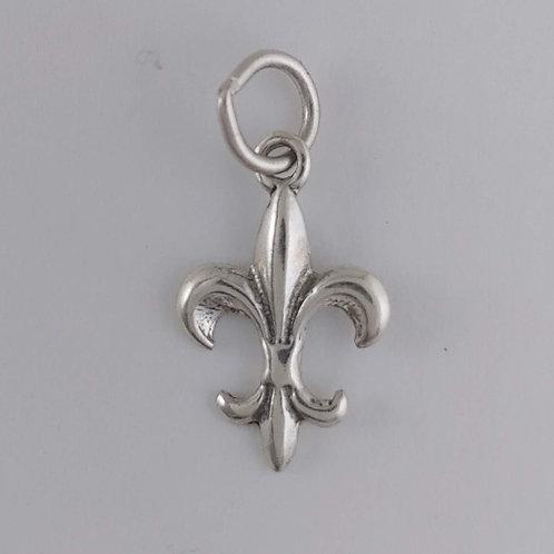 sterling silver 'fleur de lis' charm