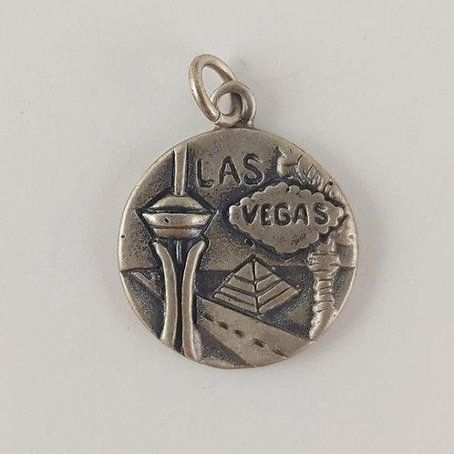 sterling silver 'LAS VEGAS' charm