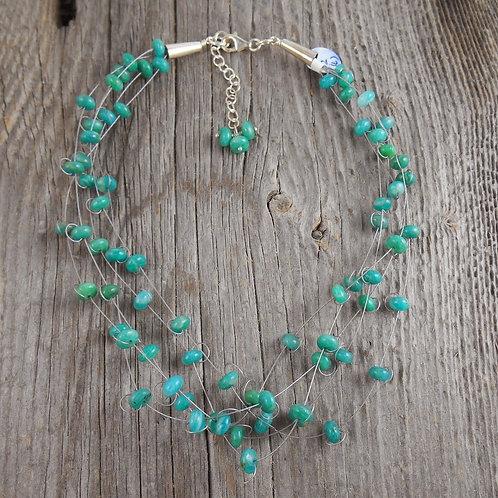 amazonite 'floater' necklace