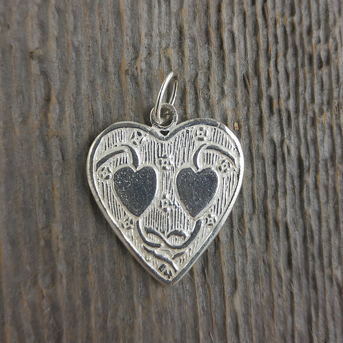 sterling silver heart charm #9