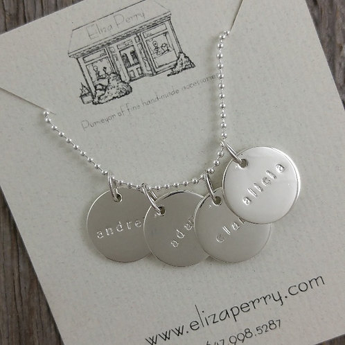 'extra large' disc necklace