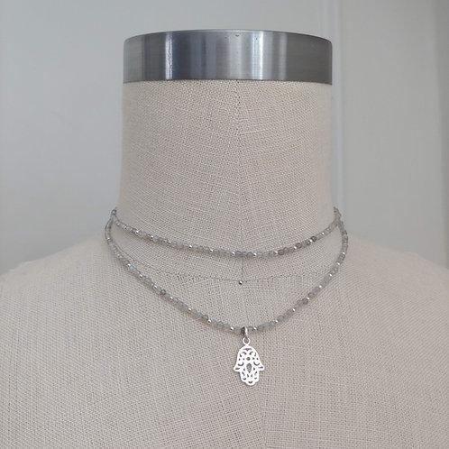 labradorite hamsa necklace