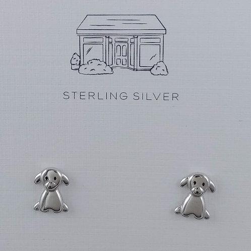 'puppy' love stud earrings