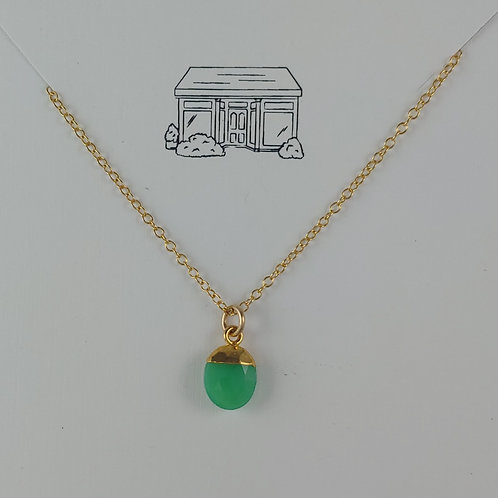 chalcedony & gold-filled necklace