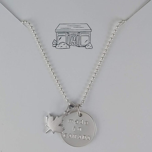 silver made in Canada necklace