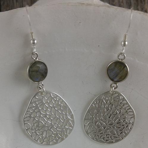 'lace' & labradorite drop earrings