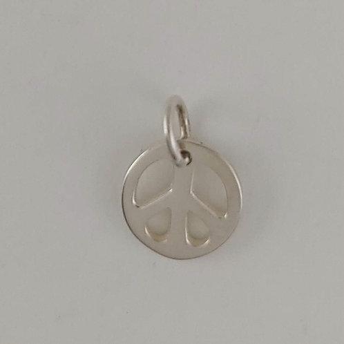 tiny sterling silver 'peace' charm