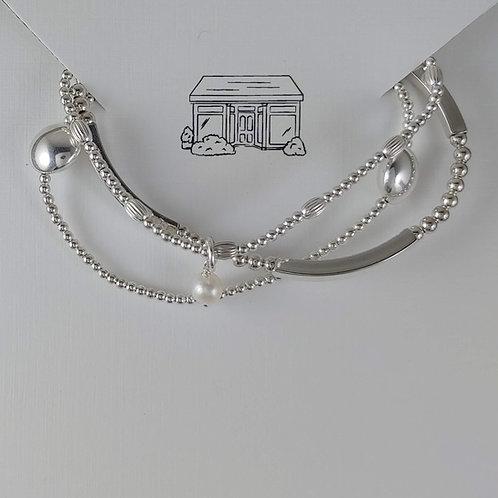 'round' stretchy bracelet trio #4