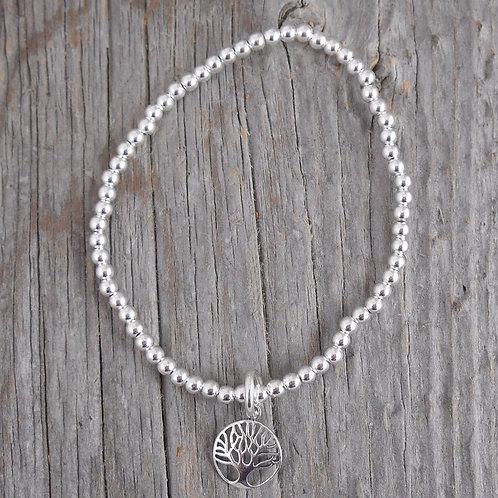 tree of life & 3mm beaded stretchy bracelet