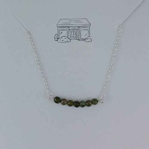 tourmaline 'bar' necklace
