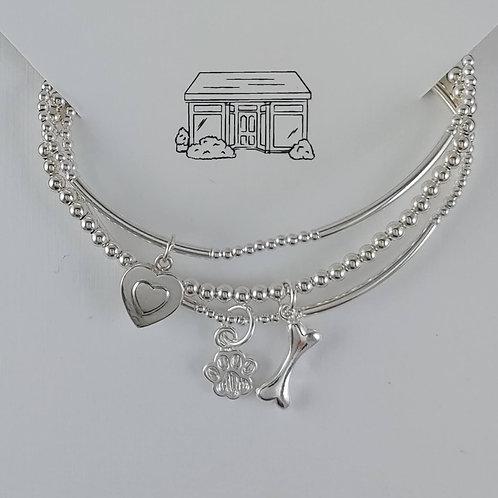 'puppy' love stretchy bracelet trio