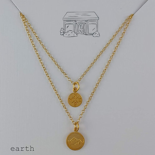 gold earth elements necklaces