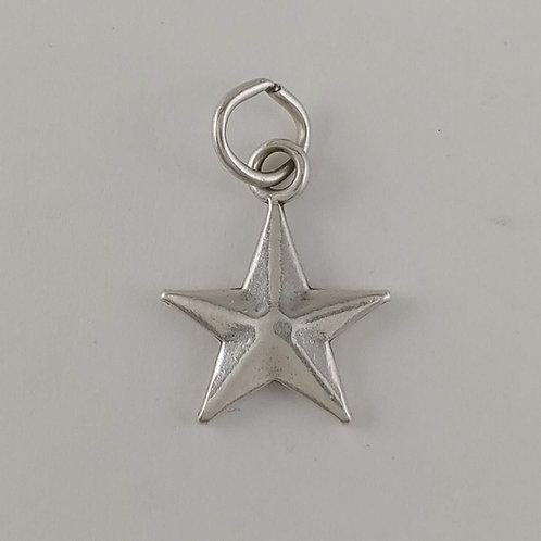 sterling silver 'star' charm
