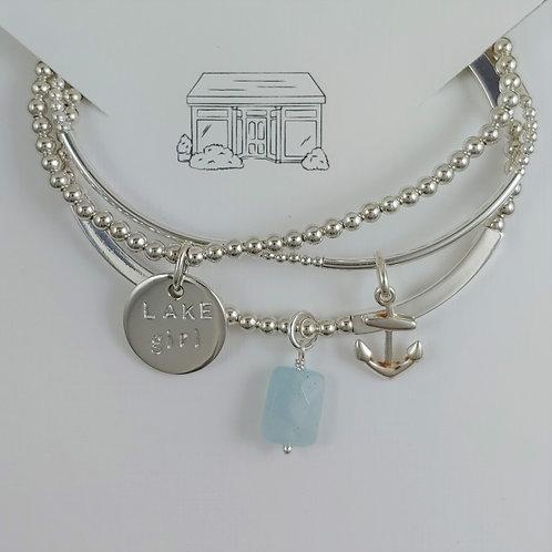 LAKE girl stretchy bracelet trio
