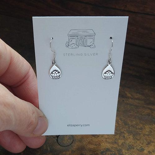 lotus 'dangle' earrings