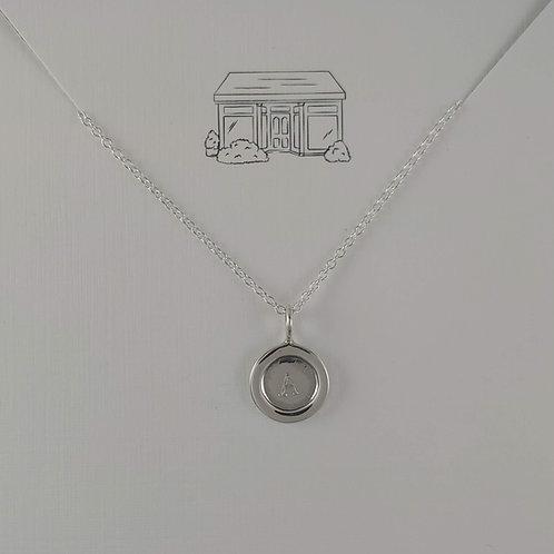 medium pressed disc necklace