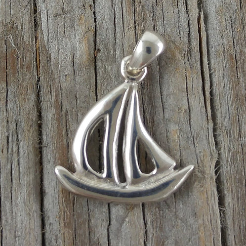 sterling silver 'sail' boat charm
