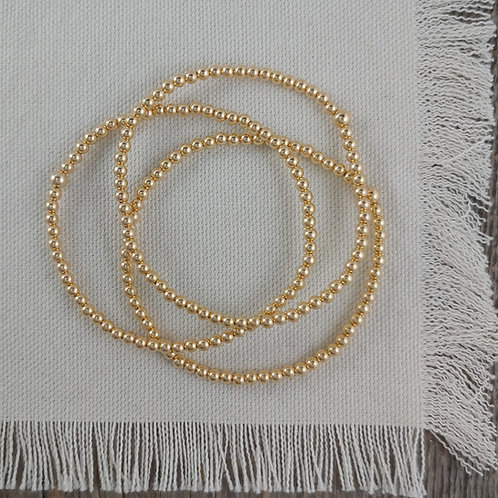 '3mm' golden stretchy bracelet