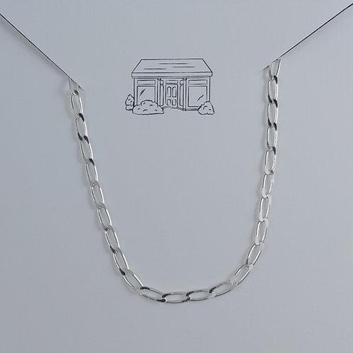 sterling silver anklet - long curb link