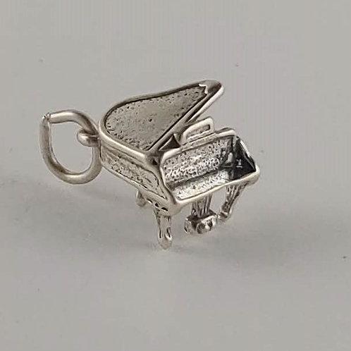 sterling silver grand 'piano' charm