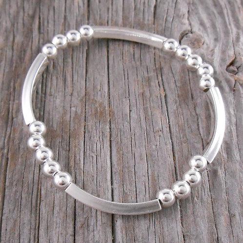 square tubes & '5mm' stretchy bracelet