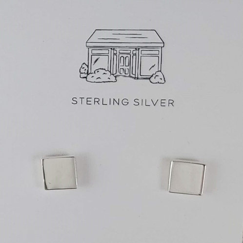 chiclet stud earrings