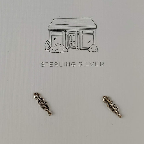 'feather' stud earrings