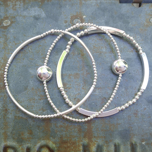 round stretchy bracelet trio #3