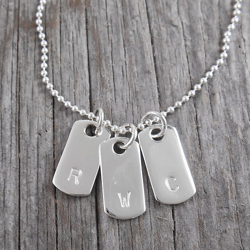 'small' dog tag necklace