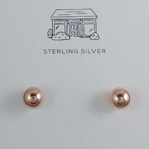 rose gold ball stud earrings