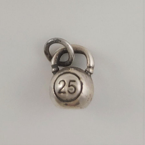 sterling silver 'kettle' bell charm