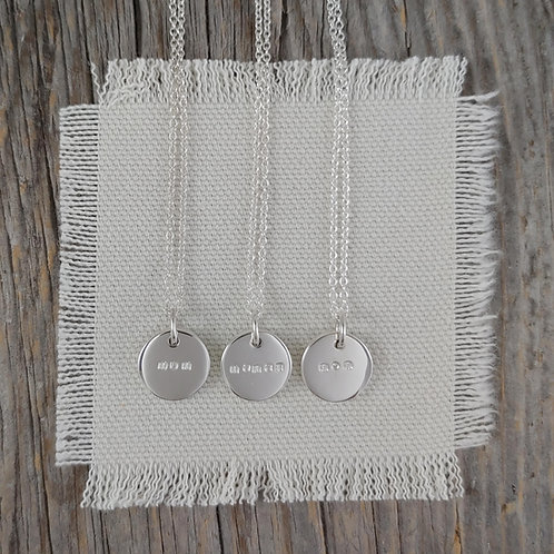'mama' disc necklace