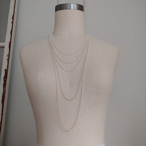 large sterling silver bead chain