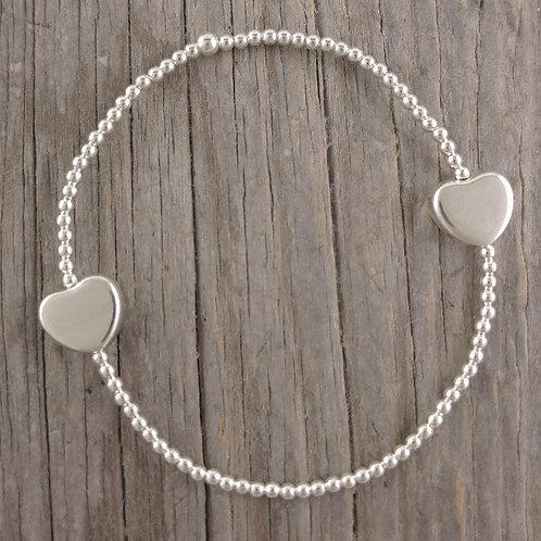 'heart' station stretchy bracelet
