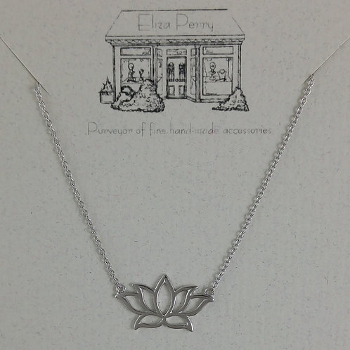'lotus' flower necklace