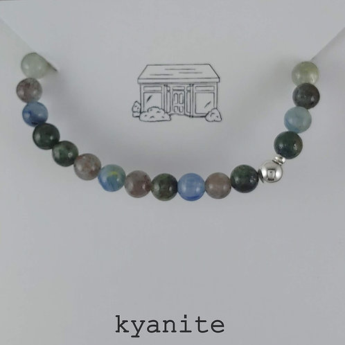 kyanite stretchy bracelet