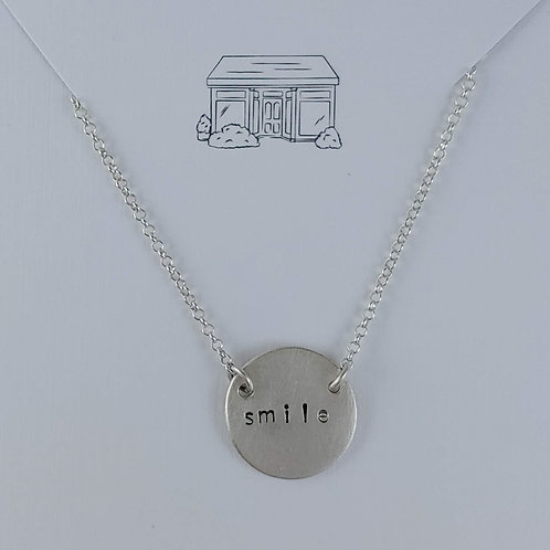 smile 'disc' necklace