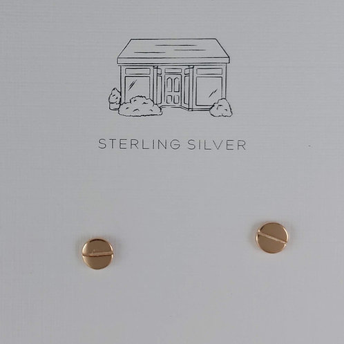 'screw' head stud earrings